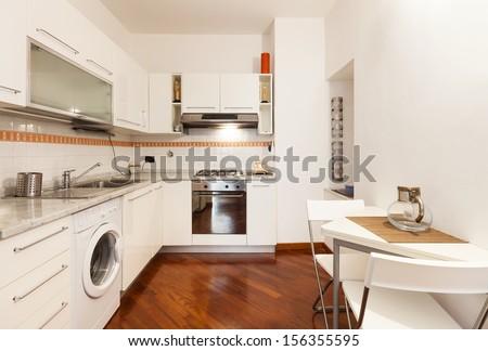 Interior, beautiful apartment, room, kitchen view #156355595