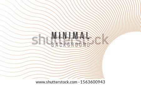 Abstract background illustration. Colorful wavy lines. Color atomic tangerine. Creative concept. Eps10 vector. Royalty-Free Stock Photo #1563600943