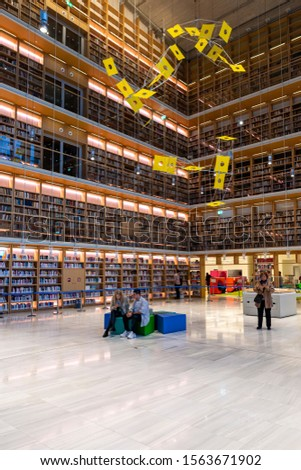 Athens - Greece - 11/17/2019 - New modern public library - education and information place #1563671902