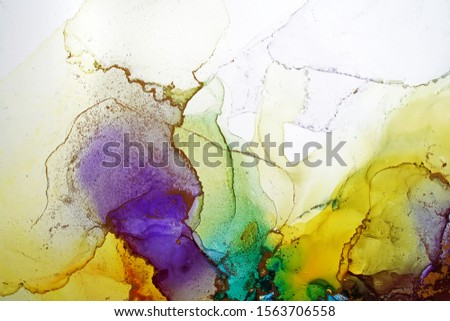 Alcohol ink abstract background with copy space #1563706558