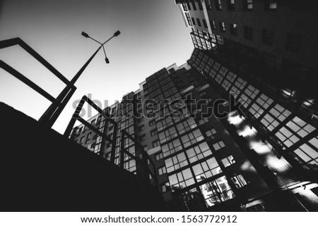 Modern multi-storey art photo black and white #1563772912