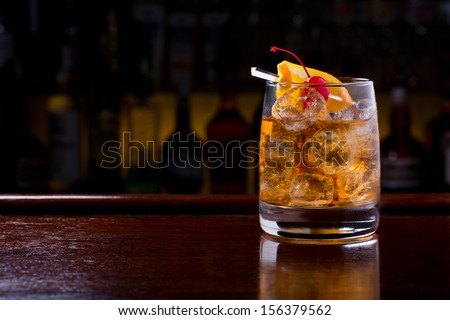 old fashioned cocktail Royalty-Free Stock Photo #156379562