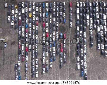 A passenger cars stock yard compound in Kuching, Sarawak, island of Borneo #1563941476