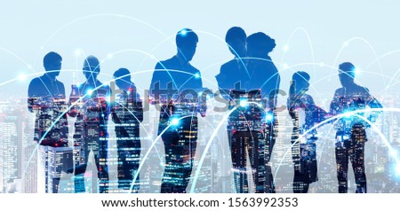 Group of people and communication network concept. Human resources. Teamwork of business. Partnership. #1563992353