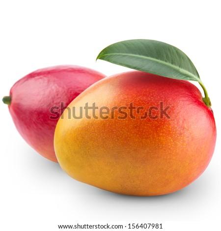 Mango fruit isolated on white background #156407981