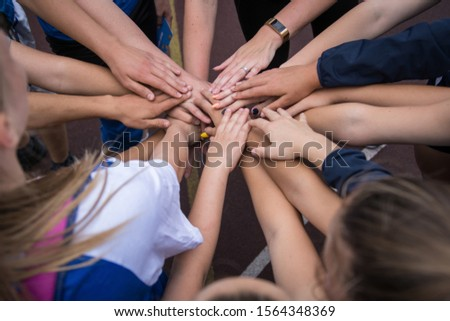 the hands of the children together #1564348369