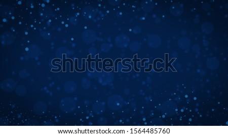 glitter vintage lights background. gold, silver, blue and black. dark light christmas #1564485760