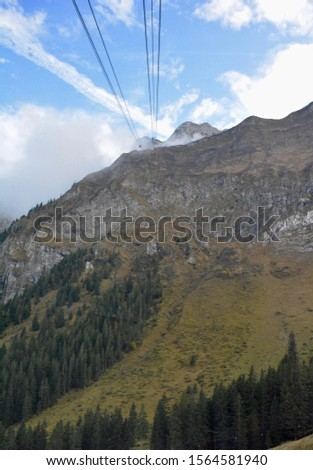 The gondola (cable car) back to Luzern from Mount Pilatus. #1564581940