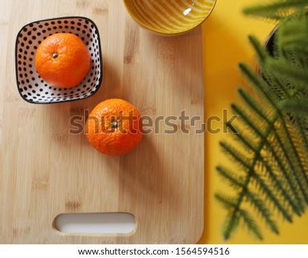 Mandarín Oranges in the kitchen.