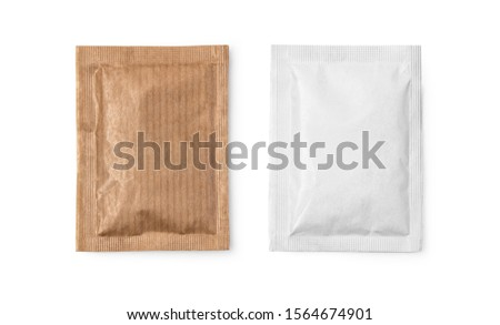 Small sugar packets isolated on white, with clipping path #1564674901