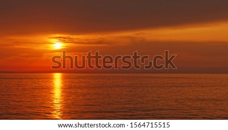 Sunset over the sea in the distance #1564715515