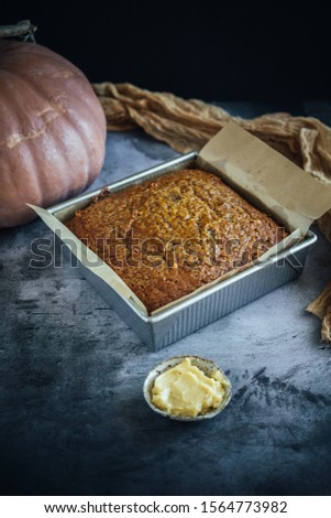 Home Made Pumpkin Bread with Butterscotch Morsels #1564773982