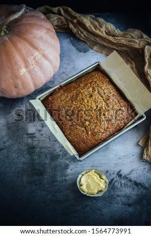 Home Made Pumpkin Bread with Butterscotch Morsels #1564773991