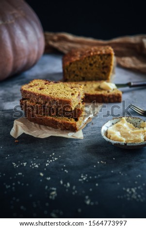 Home Made Pumpkin Bread with Butterscotch Morsels #1564773997