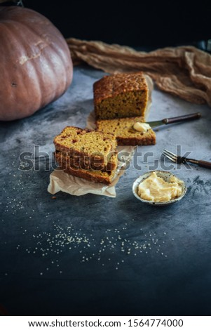 Home Made Pumpkin Bread with Butterscotch Morsels #1564774000