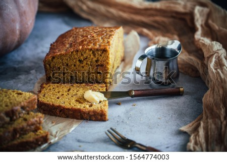 Home Made Pumpkin Bread with Butterscotch Morsels #1564774003