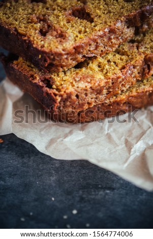 Home Made Pumpkin Bread with Butterscotch Morsels #1564774006