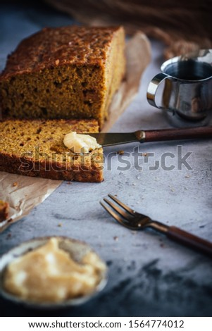 Home Made Pumpkin Bread with Butterscotch Morsels #1564774012