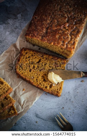 Home Made Pumpkin Bread with Butterscotch Morsels #1564774015