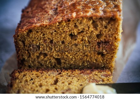 Home Made Pumpkin Bread with Butterscotch Morsels #1564774018