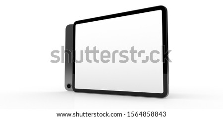 TABLET PC computer device mobile isolated background 3d #1564858843
