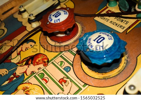Old time pin ball machine Royalty-Free Stock Photo #1565032525