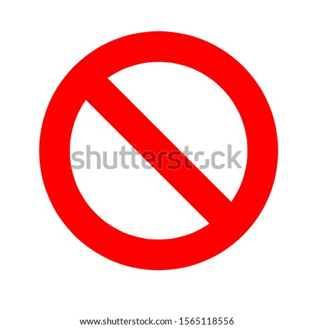 Illustration bold sign stop,no entry symbol,no entry sign,traffic sign isolate,white background.