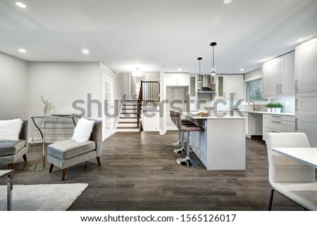Renovated luxury Canadian house staged for sale Royalty-Free Stock Photo #1565126017