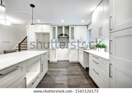 Renovated luxury Canadian house staged for sale Royalty-Free Stock Photo #1565126173