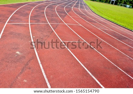 Track on the football field #1565154790