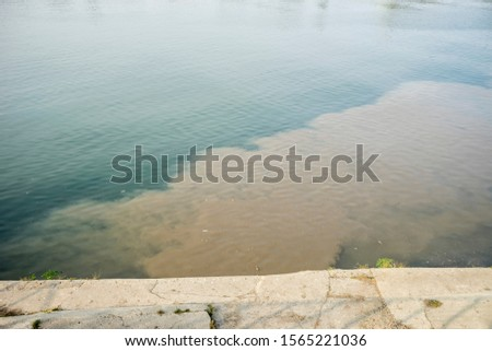 sewage flows into the river #1565221036