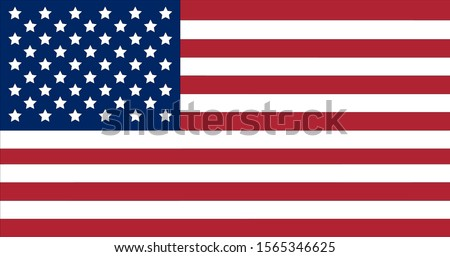 Copy flag of the United States of America original proportion, color
