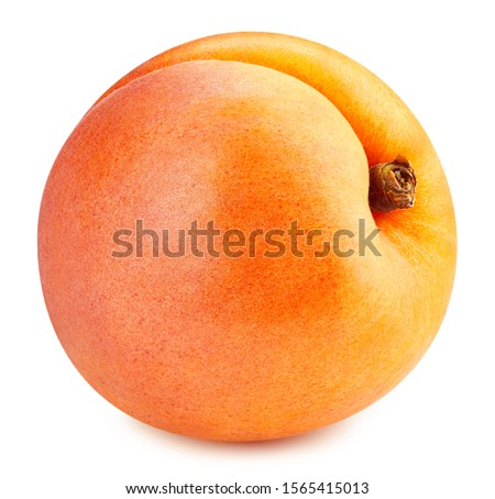 Apricot isolated on white background. Apricot fruit Clipping Path. Quality macro photo #1565415013