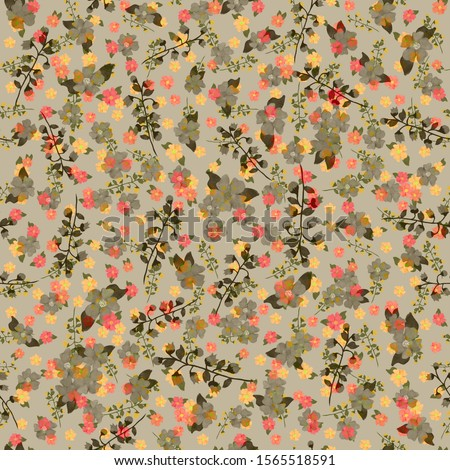 Small flower pattern, textile or book covers, seamless background, manufacturing, wallpapers, prints, gift wrapping #1565518591
