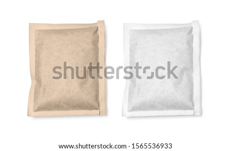 White  and brown paper package isolated with clipping path #1565536933
