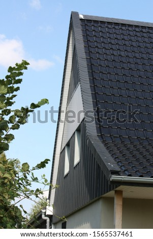 Roof gable covered with slate #1565537461