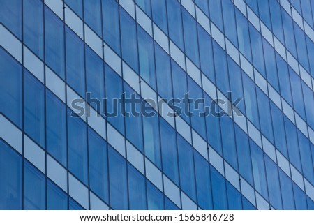 Detail to blue rectangles in perspective. #1565846728