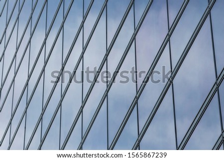Image to blue rectangles in perspective with reflection. #1565867239