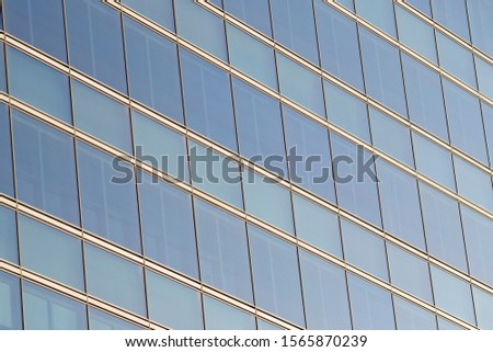 Detail to blue rectangles and silver lines in perspective. #1565870239