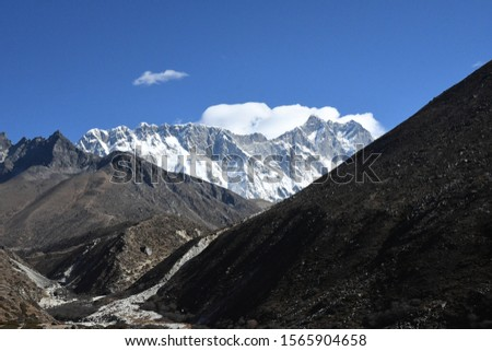 traveling in Nepal   on  Gokyo Everest  treking 2019 #1565904658