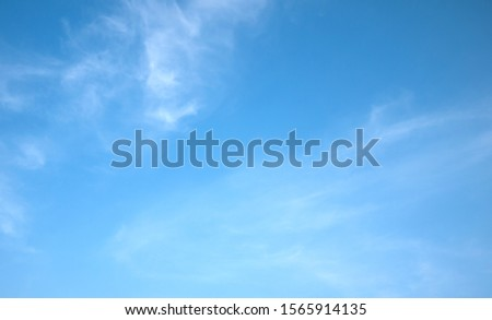 Blue sky with cloud.nature background.