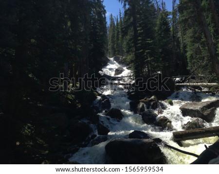 Waterfall trail in Estes Park #1565959534