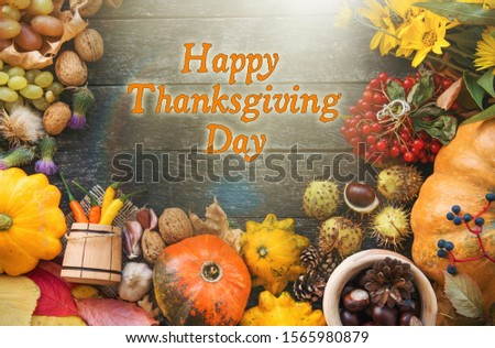 Happy Thanksgiving day wish card #1565980879