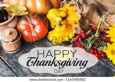 Happy Thanksgiving day wish card #1565980882