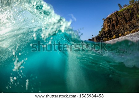 Morning waves Splashing waves at sunrise,  Snapper Rocks, Australia #1565984458
