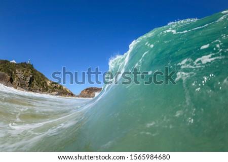 Morning waves Splashing waves at sunrise, Seal Rocks, Australia #1565984680