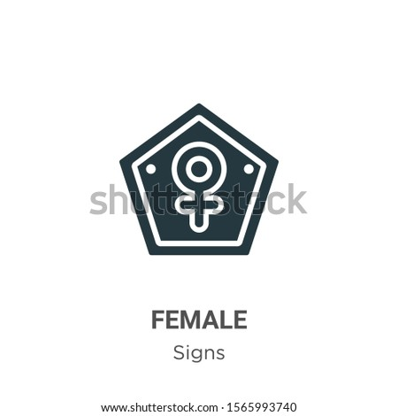 Female symbol vector icon on white background. Flat vector female symbol icon symbol sign from modern signs collection for mobile concept and web apps design. #1565993740