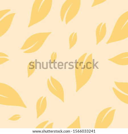 Seamless abstract floral pattern vector background, Geometric leaf ornament, Graphic modern pattern #1566033241