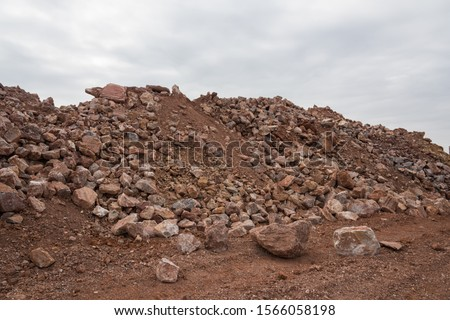 A close-up of the spoil heap in the quarry #1566058198