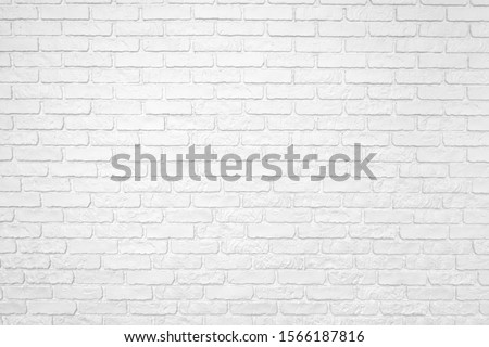 Photo of a white brick wall. Abstract background. #1566187816